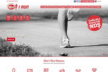 Eker I Run Web Sitesi Tasarımı