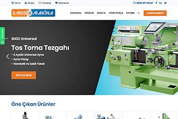 Emos Makina Web Sitesi Tasarımı