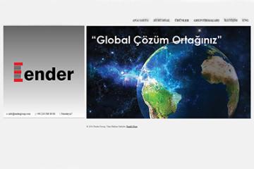 Ender Group Web Sitesi Tasarımı