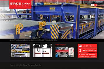 Erke Makina İmalatı Web Sitesi Tasarımı