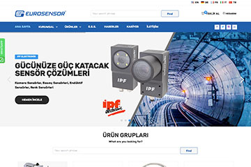 Eurosensor Web Sitesi Tasarımı