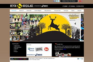 Geyik Koşuları web tasarim