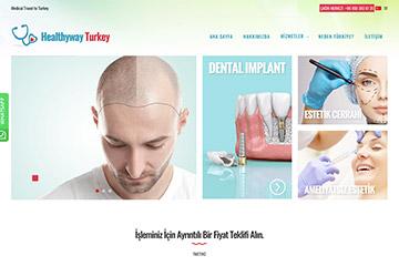 Healthyway Turkey Web Sitesi Tasarımı
