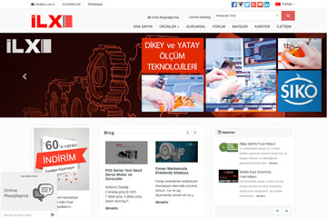 İLX Web Sitesi Tasarımı