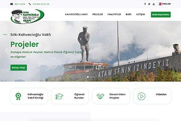 Kahvecioğlu Vakfı Web Sitesi Tasarımı