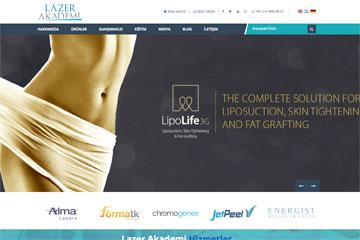 Lazer Akademi Web Sitesi Tasarımı
