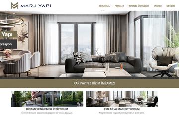 Marj Yapı Web Sitesi Tasarımı
