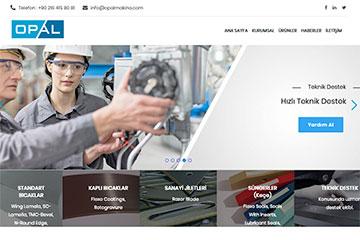 Opal Makina Web Sitesi Tasarımı