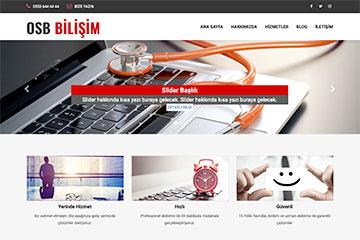 OSB Bilişim Web Sitesi Tasarımı