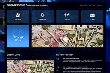 Özbıyık Döviz Web Sitesi Tasarımı