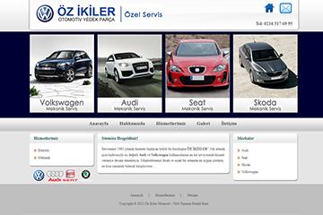 Özikiler Otomotiv Web Sitesi Tasarımı