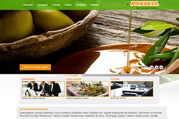 Paksell Zeytin Web Sitesi Tasarımı