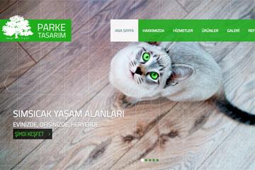 Parke Tasarım Web Sitesi Tasarımı