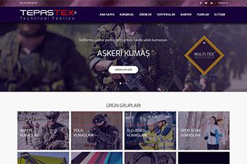 Tepaş Tex Web Sitesi Tasarımı