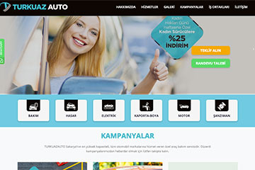 Turkuaz Auto Web Sitesi Tasarımı