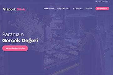 Viaport Döviz Web Sitesi Tasarımı