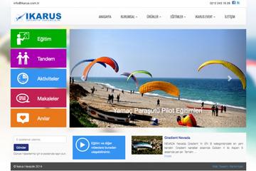 İkarus Havacılık Web Sitesi Tasarımı
