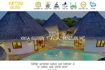 Yurtdışı Gezisi Web Sitesi Tasarımı